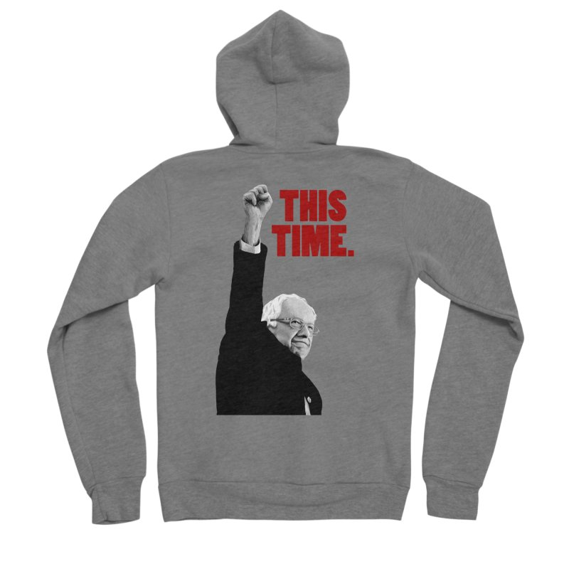 This Time. (Red Text) Men's Sponge Fleece Zip-Up Hoody by Bernie Threads