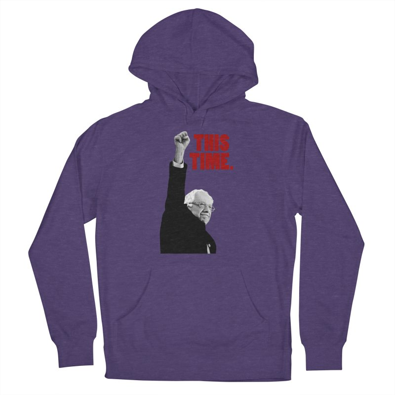 This Time. (Red Text) Men's French Terry Pullover Hoody by Bernie Threads