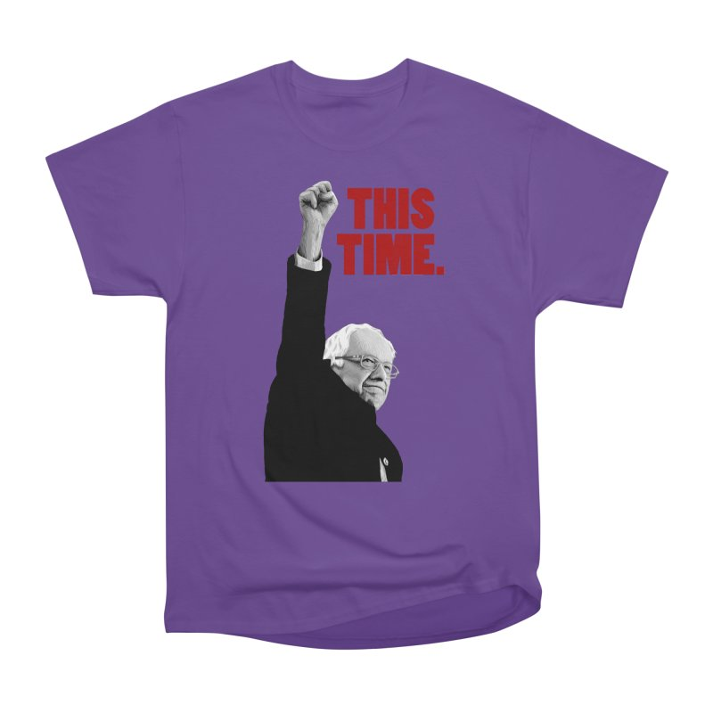 This Time. (Red Text) Men's Heavyweight T-Shirt by Bernie Threads