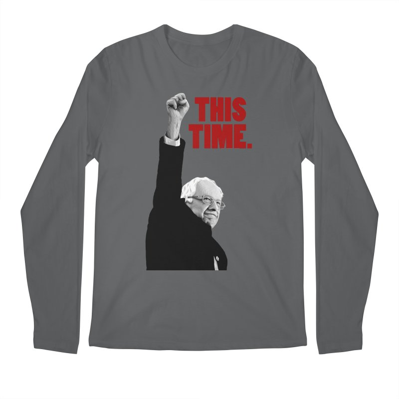 This Time. (Red Text) Men's Longsleeve T-Shirt by Bernie Threads