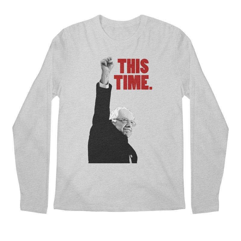 This Time. (Red Text) Men's Regular Longsleeve T-Shirt by Bernie Threads
