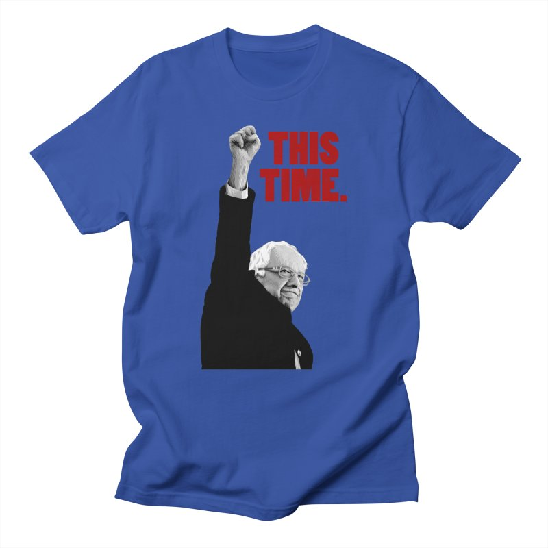 This Time. (Red Text) Men's Regular T-Shirt by Bernie Threads