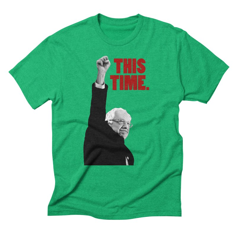 This Time. (Red Text) Men's Triblend T-Shirt by Bernie Threads