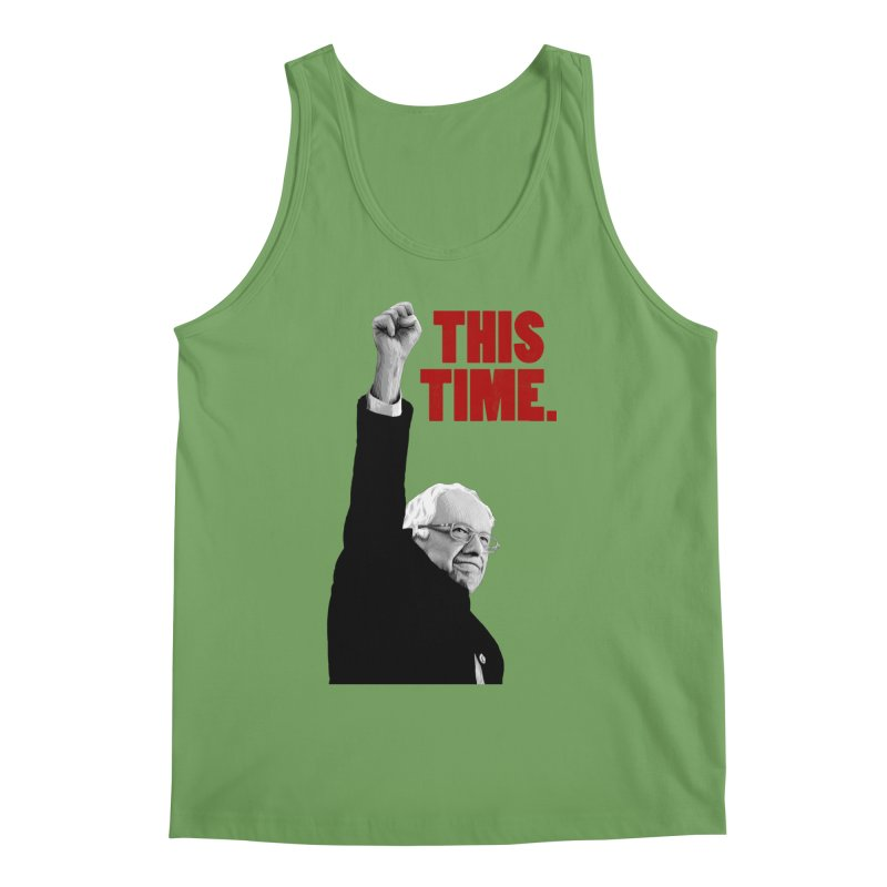 This Time. (Red Text) Men's Tank by Bernie Threads