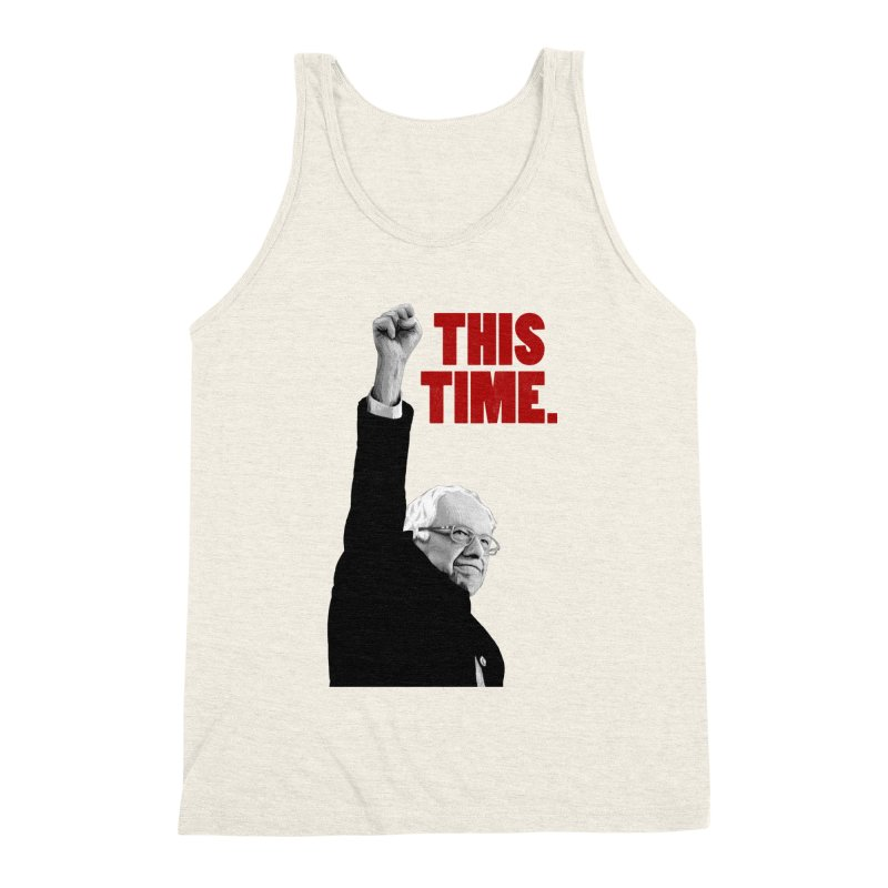 This Time. (Red Text) Men's Triblend Tank by Bernie Threads