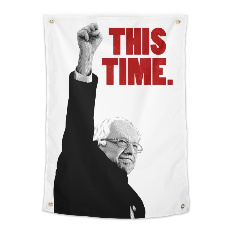 This Time. (Red Text) Home Tapestry by Bernie Threads