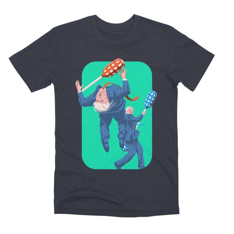 Bernie Jousts Trump in Men's Premium T-Shirt Midnight by Bernie Threads