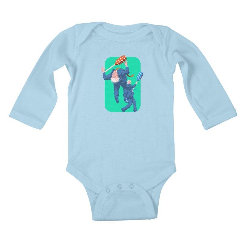 Bernie Jousts Trump Kids Baby Longsleeve Bodysuit by Bernie Threads