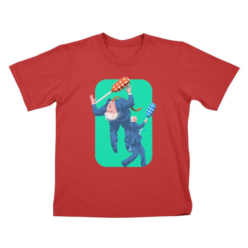 Bernie Jousts Trump Kids T-Shirt by Bernie Threads