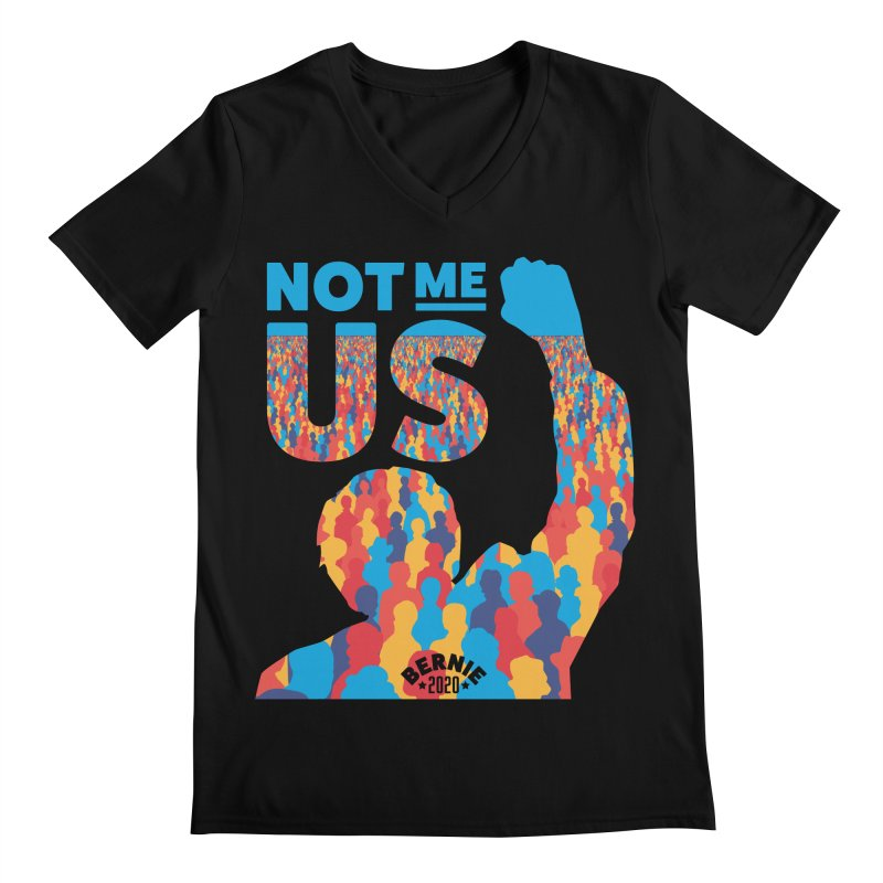 Not Me, Us 2020 Men's Regular V-Neck by Bernie Threads
