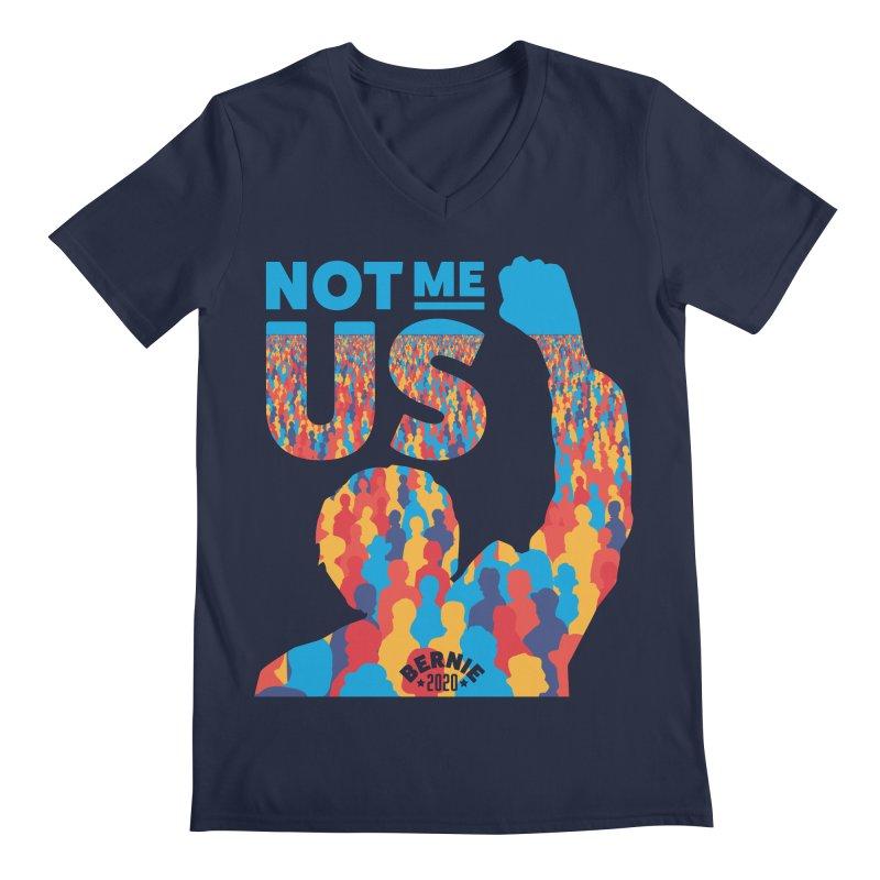 Not Me, Us 2020 Men's Regular V-Neck by Bernie Threads