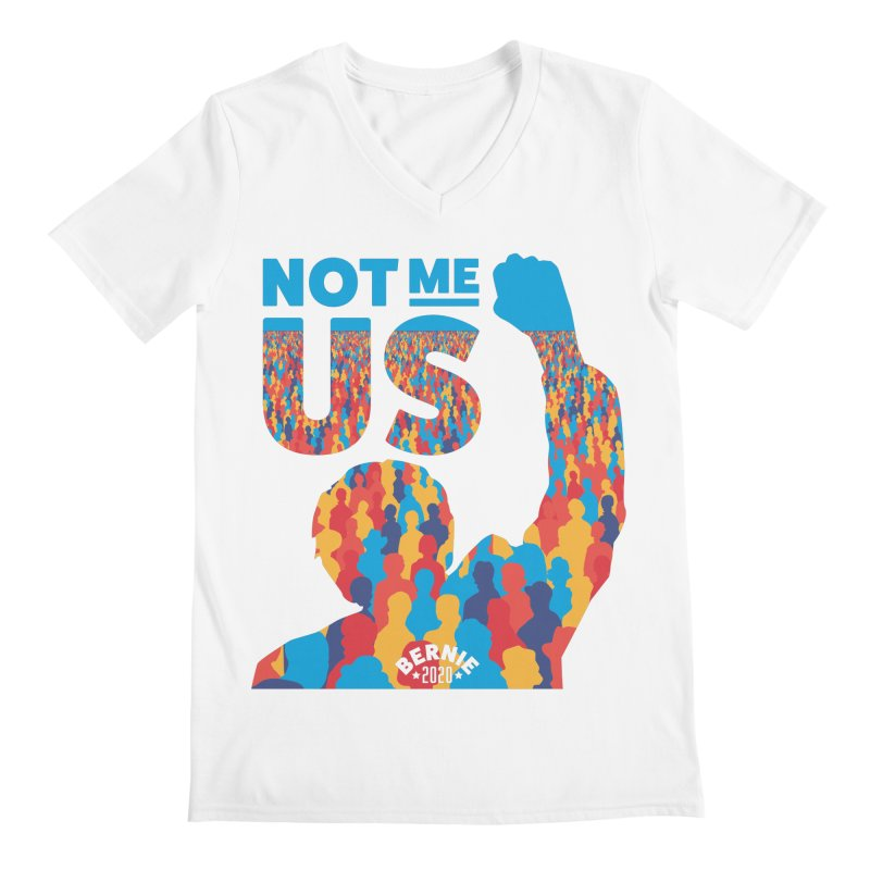 Not Me, Us 2020 Men's V-Neck by Bernie Threads