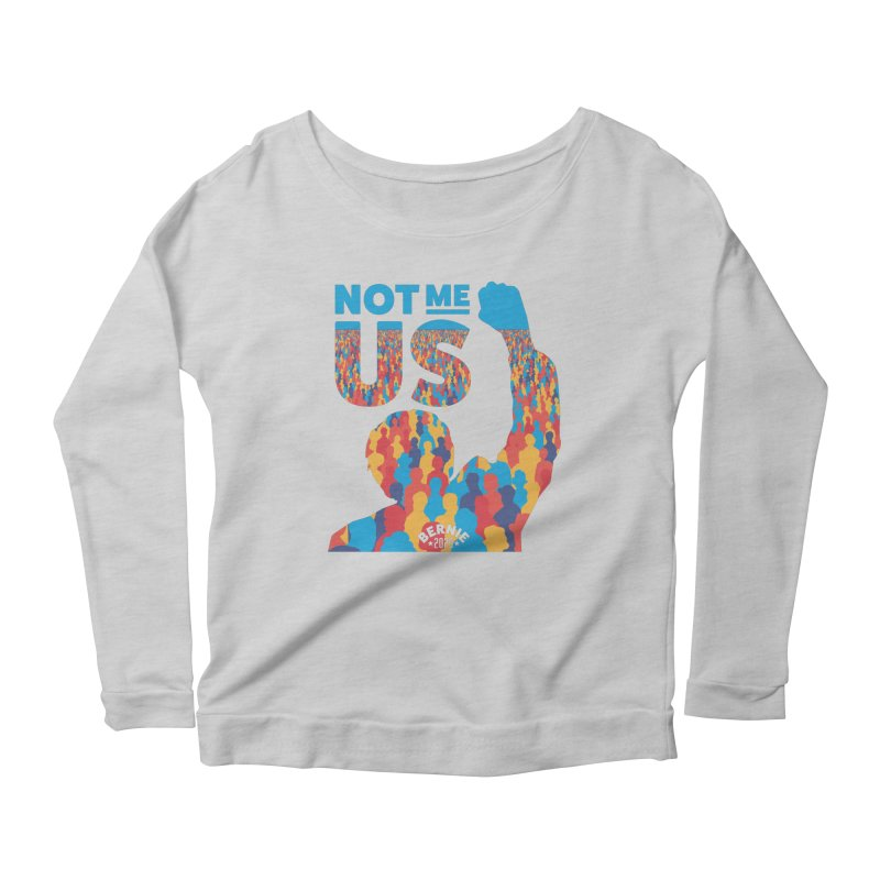 Not Me, Us 2020 Women's Longsleeve Scoopneck  by Bernie Threads