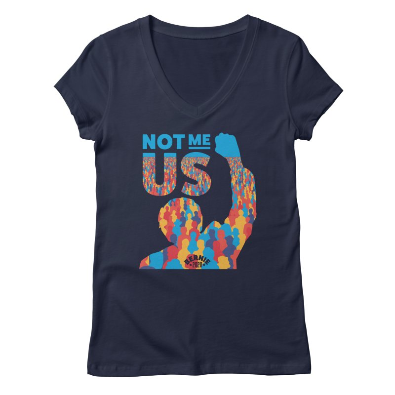 Not Me, Us 2020 Women's Regular V-Neck by Bernie Threads