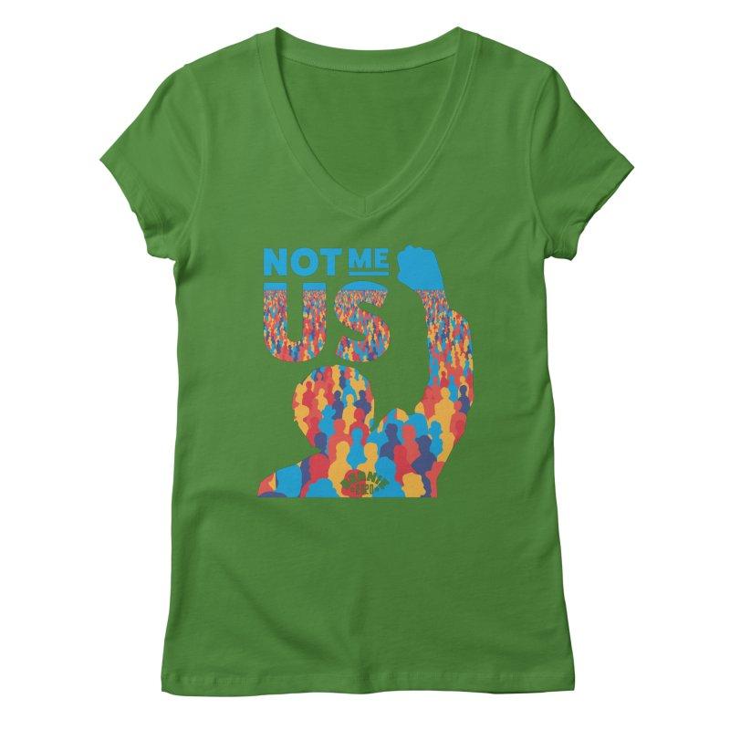 Not Me, Us 2020 Women's V-Neck by Bernie Threads