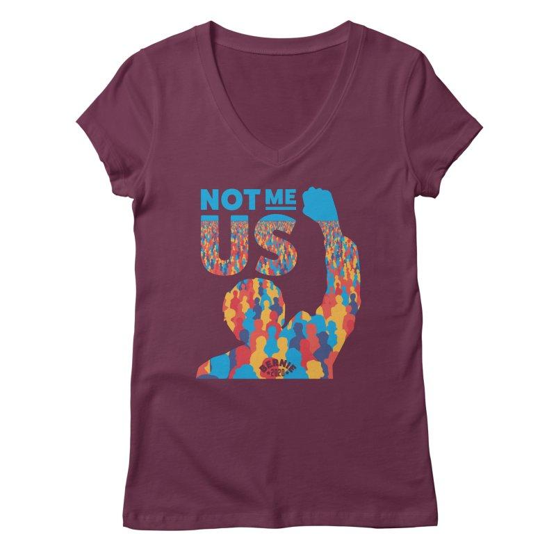 Not Me, Us 2020 Women's Regular V-Neck by Bernie Threads