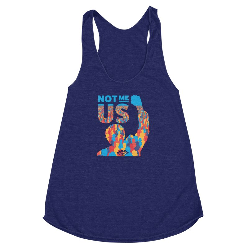 Not Me, Us 2020 Women's Racerback Triblend Tank by Bernie Threads