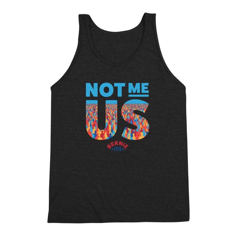 Not Me, Us. (Text Version) Men's Triblend Tank by Bernie Threads