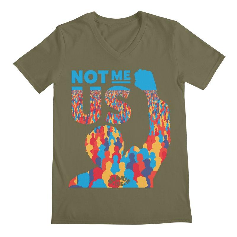 Not Me, Us. Men's V-Neck by Bernie Threads
