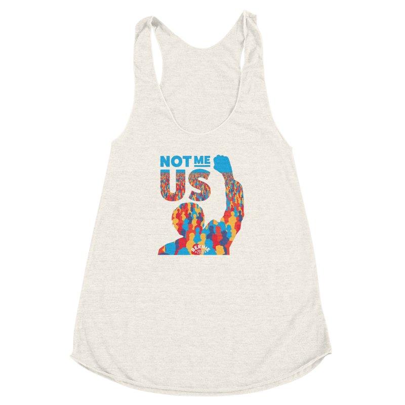 Not Me, Us. Women's Racerback Triblend Tank by Bernie Threads