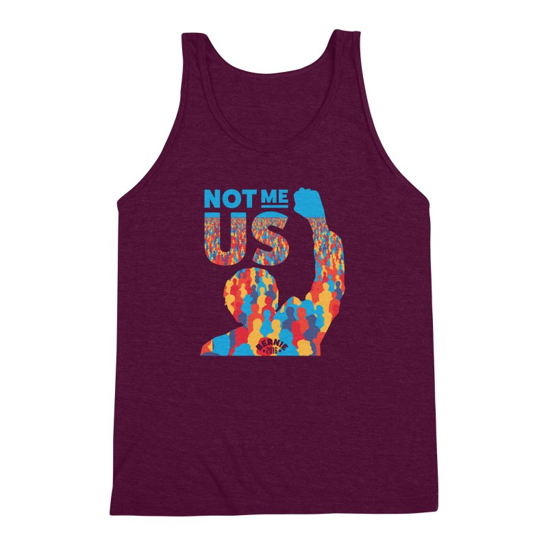 Not Me, Us. Men's Triblend Tank by Bernie Threads