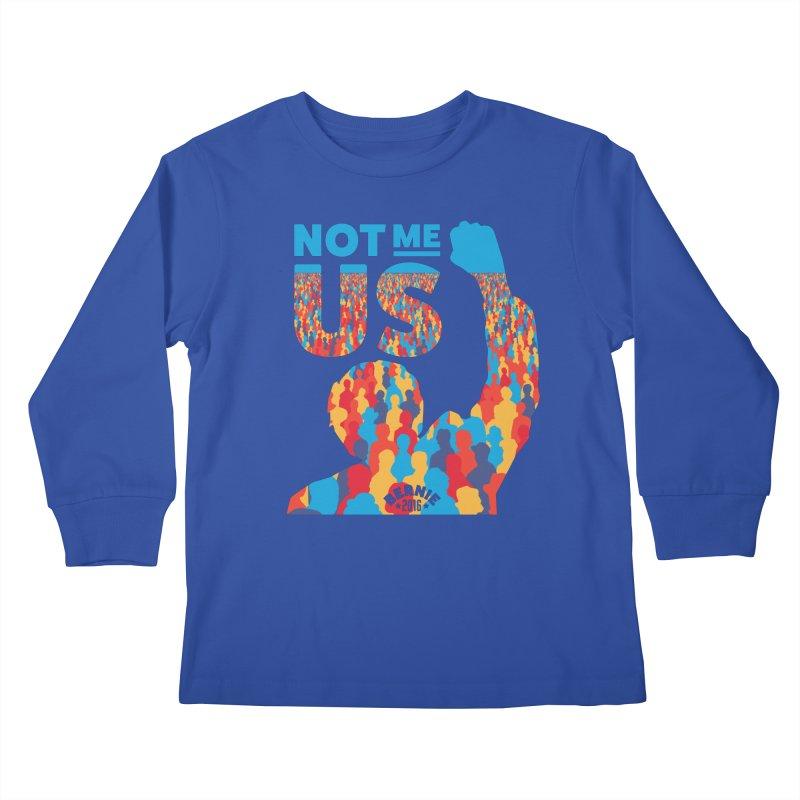 Not Me, Us. Kids Longsleeve T-Shirt by Bernie Threads