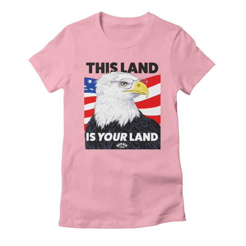 This Land Is Your Land Women's Fitted T-Shirt by Bernie Threads