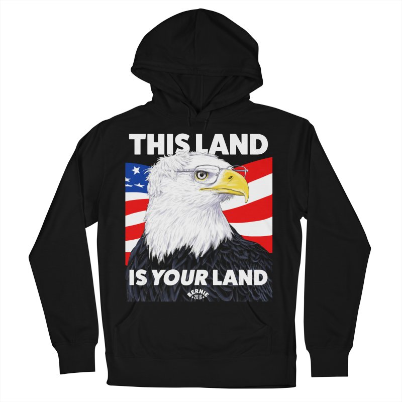 This Land Is Your Land (Dark Version) Women's Pullover Hoody by Bernie Threads