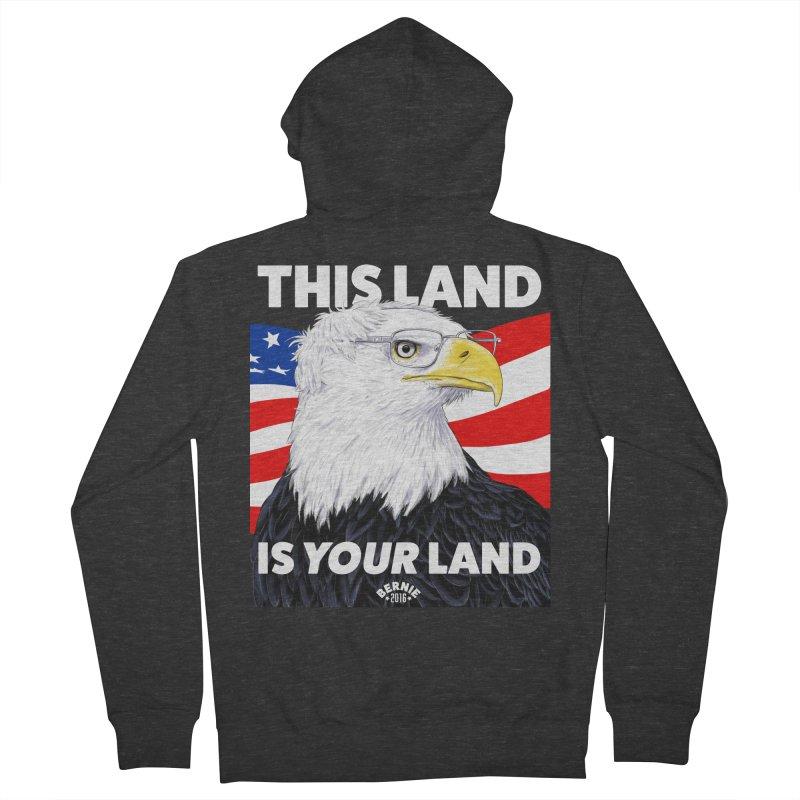 This Land Is Your Land (Dark Version) Women's Zip-Up Hoody by Bernie Threads