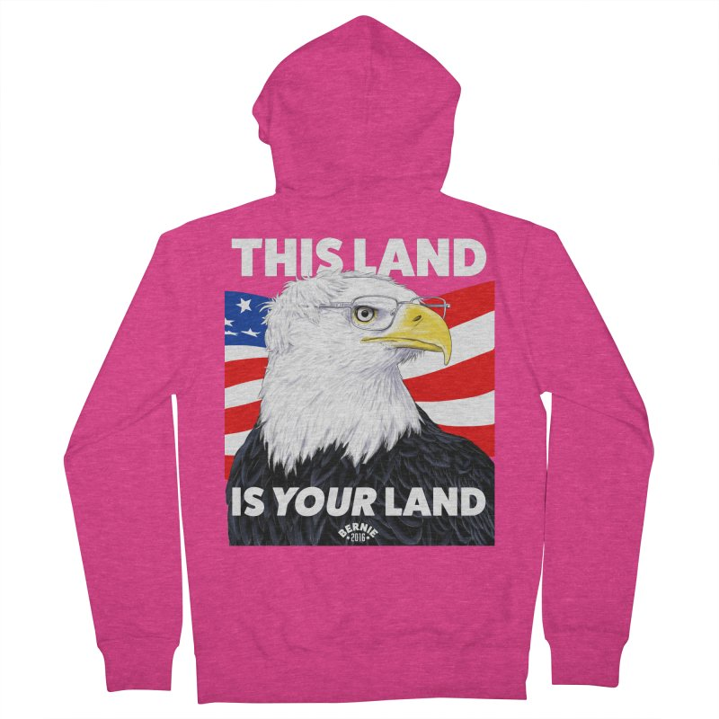 This Land Is Your Land (Dark Version) Women's Zip-Up Hoody by Bernie Threads