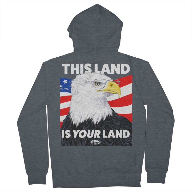 This Land Is Your Land (Dark Version) Men's Zip-Up Hoody by Bernie Threads