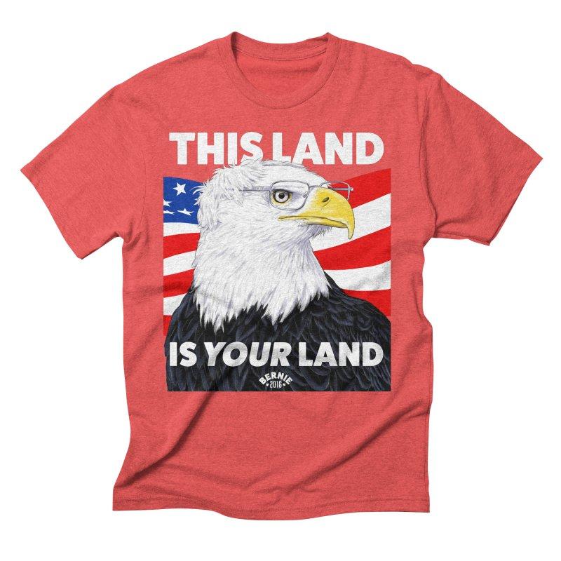 This Land Is Your Land (Dark Version) Men's Triblend T-Shirt by Bernie Threads