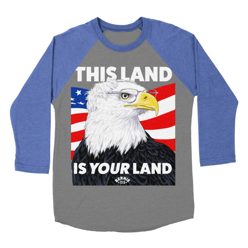 This Land Is Your Land (Dark Version) Women's Baseball Triblend T-Shirt by Bernie Threads