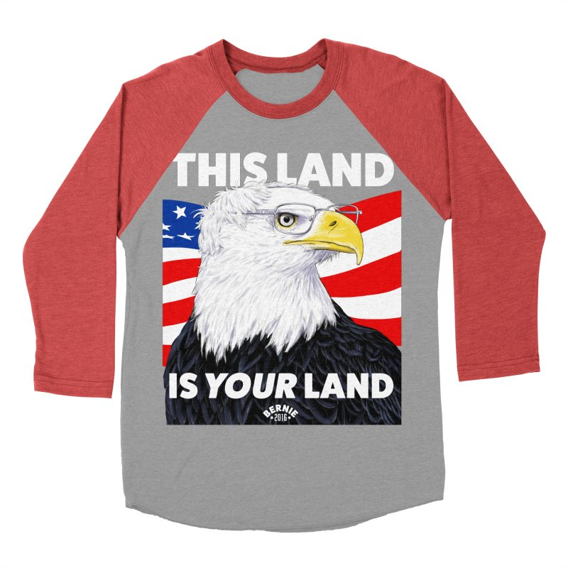 This Land Is Your Land (Dark Version) Women's Baseball Triblend T-Shirt by Bernie Threads