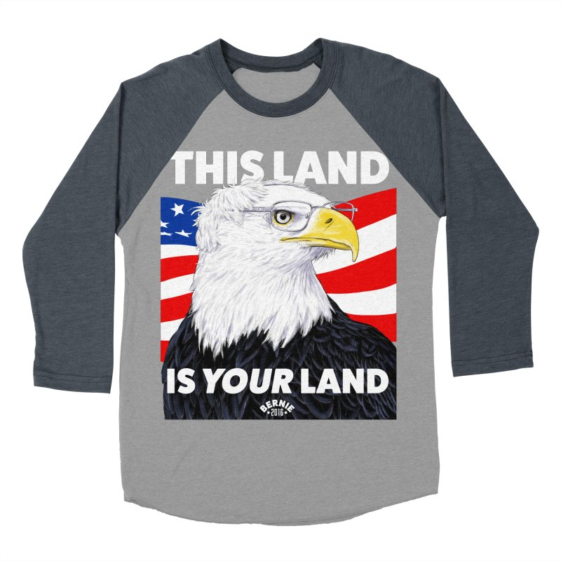 This Land Is Your Land (Dark Version) Men's Baseball Triblend T-Shirt by Bernie Threads