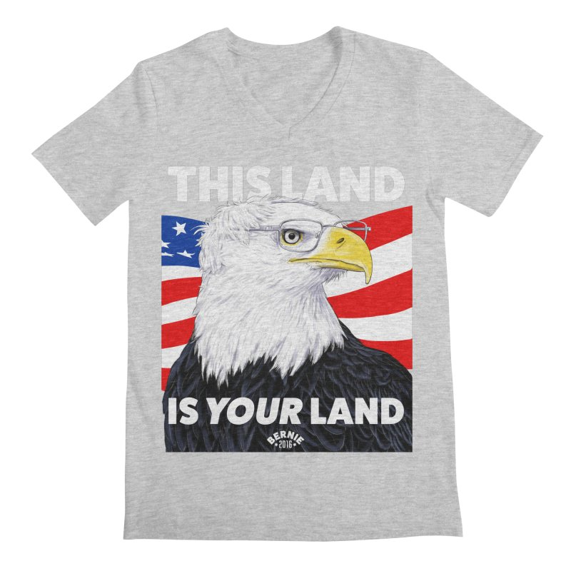 This Land Is Your Land (Dark Version) Men's V-Neck by Bernie Threads