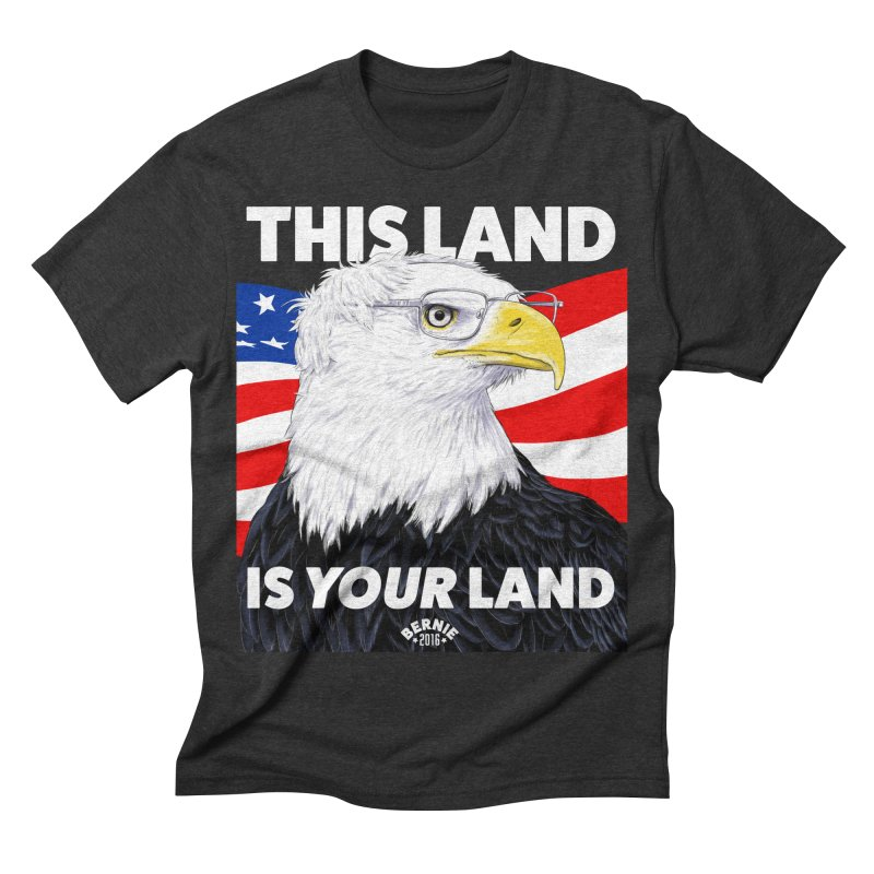 This Land Is Your Land (Dark Version) Men's Triblend T-shirt by Bernie Threads