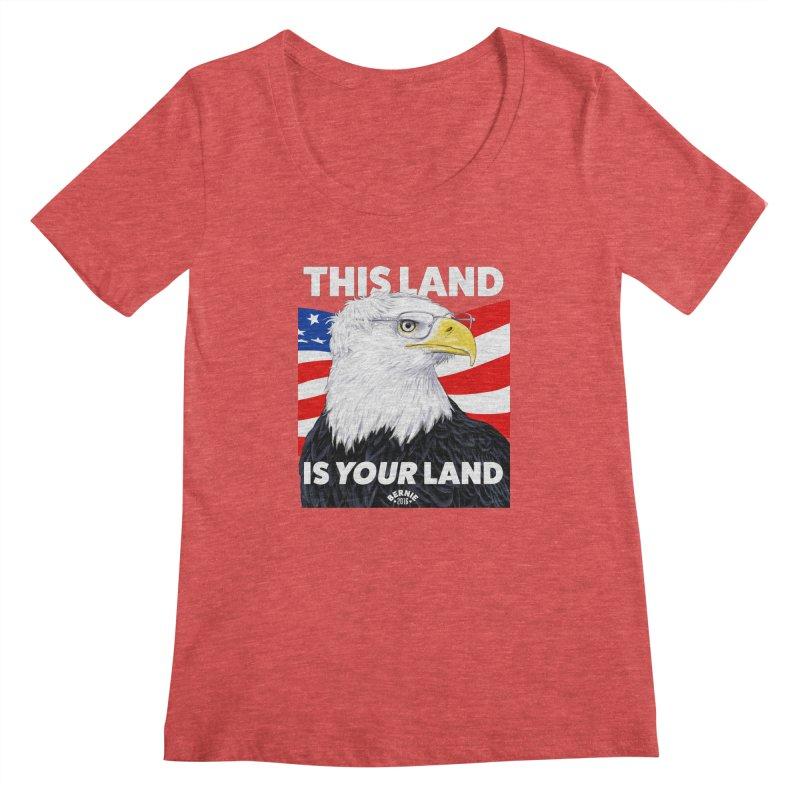 This Land Is Your Land (Dark Version) Women's Scoopneck by Bernie Threads
