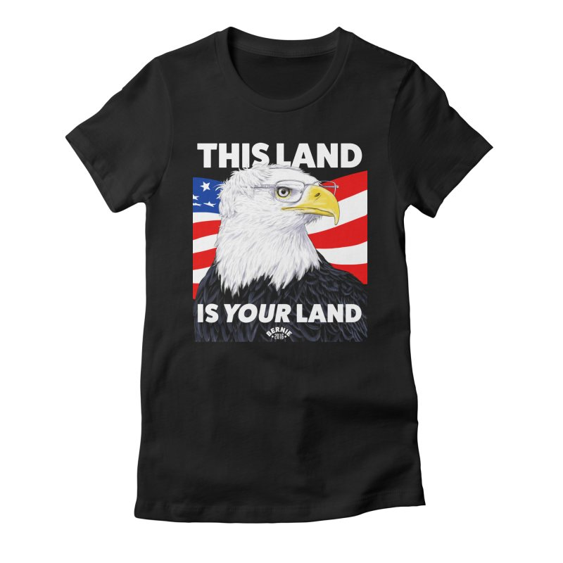 This Land Is Your Land (Dark Version) Women's Fitted T-Shirt by Bernie Threads