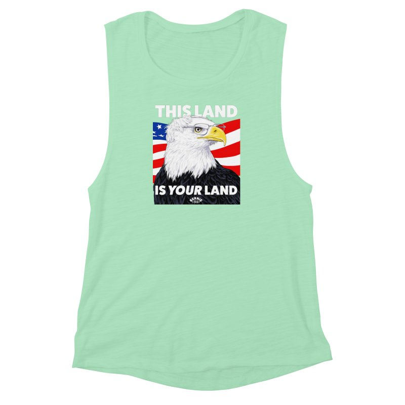 This Land Is Your Land (Dark Version) Women's Muscle Tank by Bernie Threads