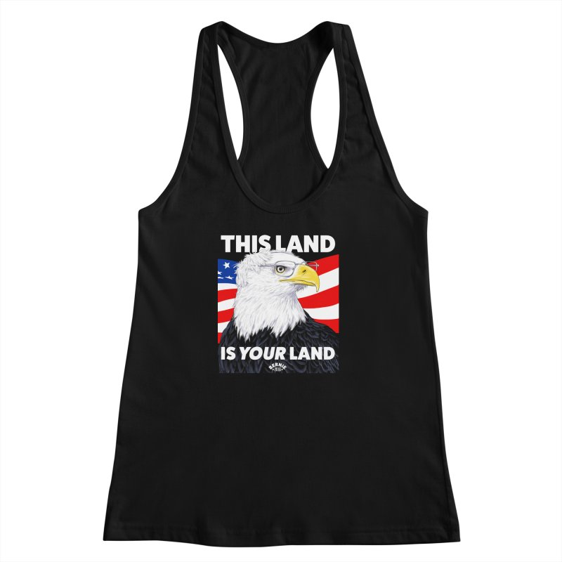 This Land Is Your Land (Dark Version) Women's Racerback Tank by Bernie Threads