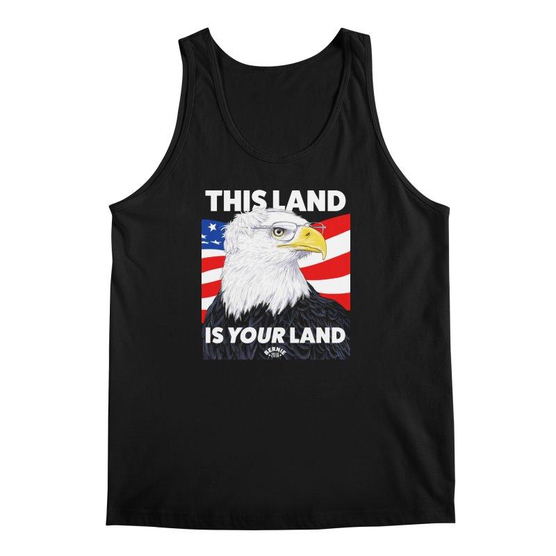 This Land Is Your Land (Dark Version) Men's Tank by Bernie Threads
