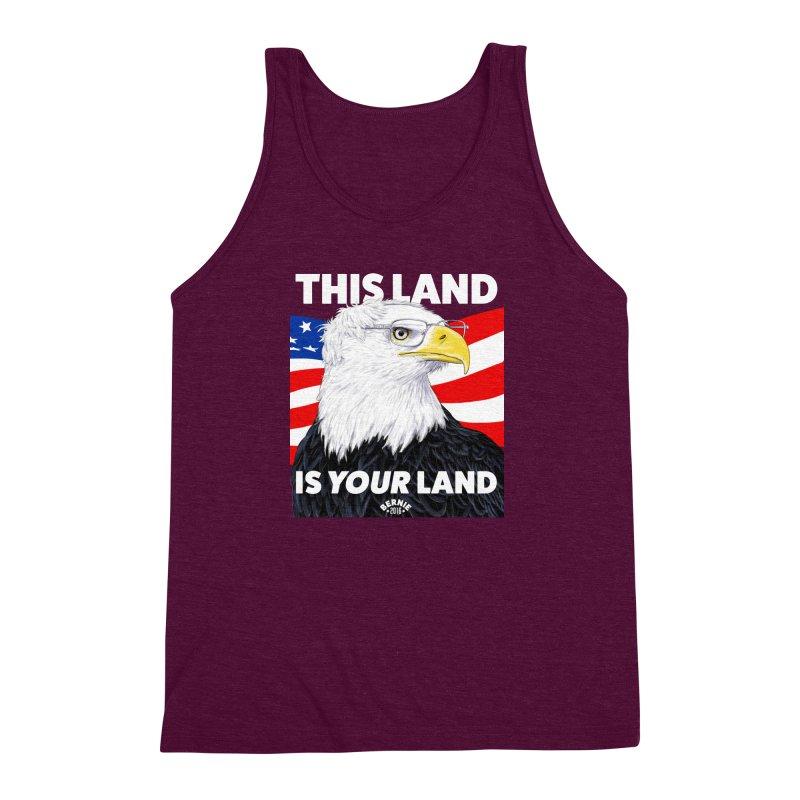 This Land Is Your Land (Dark Version) Men's Triblend Tank by Bernie Threads