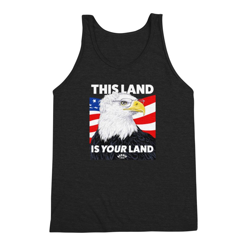 This Land Is Your Land (Dark Version) Men's Triblend Tank by Bernie Threads