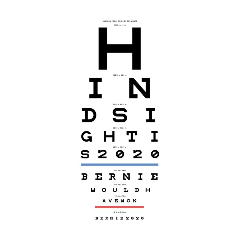 Hindsight Is 2020 by Bernie Threads