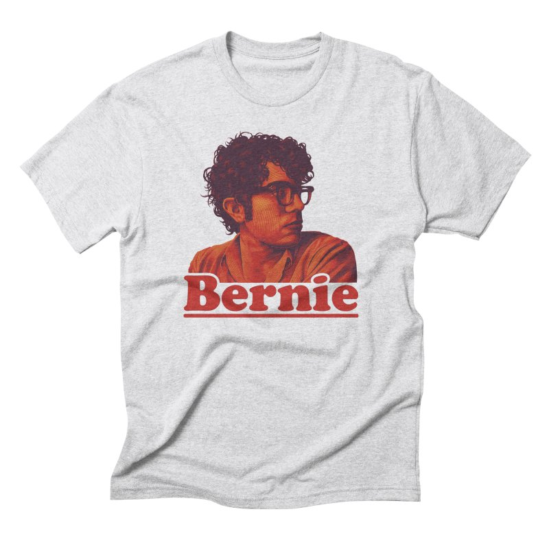 Young Bernie in Men's Triblend T-Shirt Heather White by Bernie Threads
