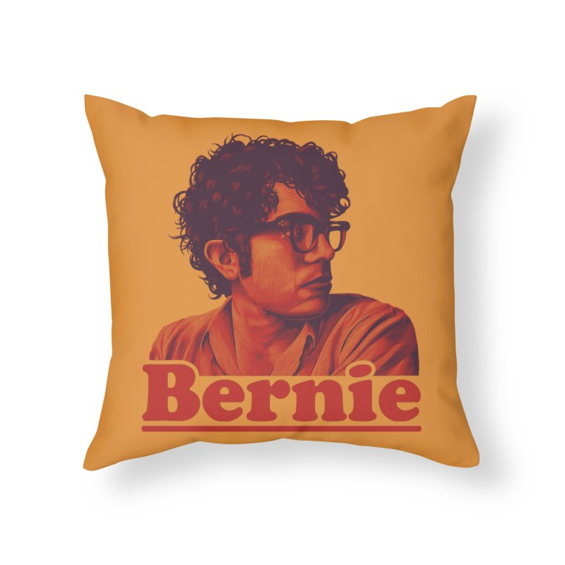 Young Bernie Home Throw Pillow by Bernie Threads