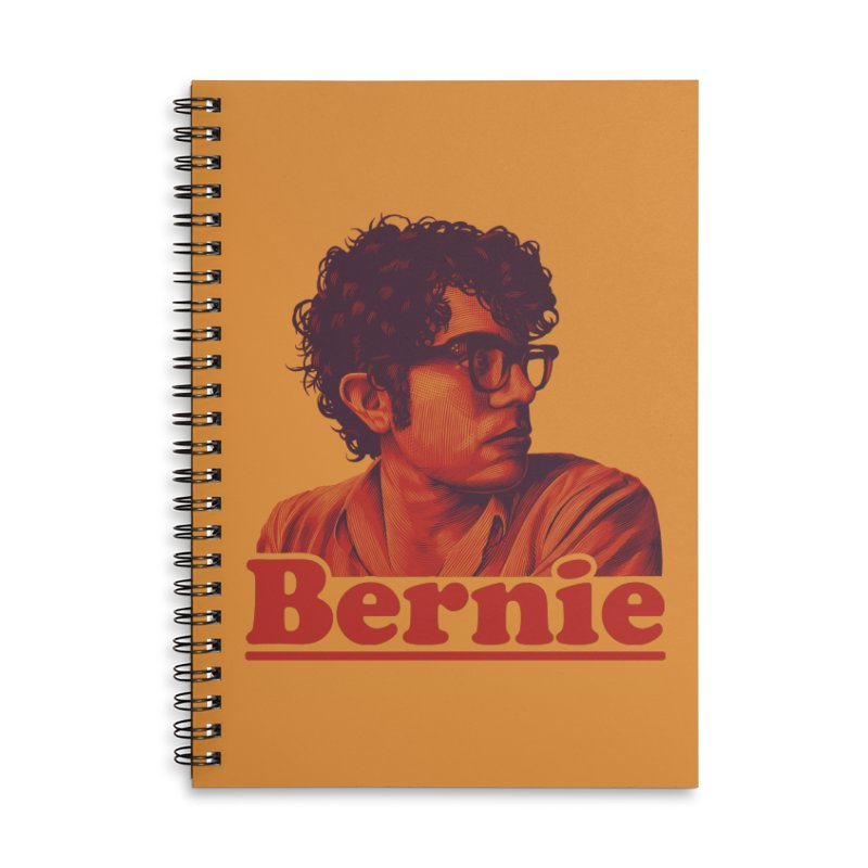 Young Bernie Accessories Lined Spiral Notebook by Bernie Threads