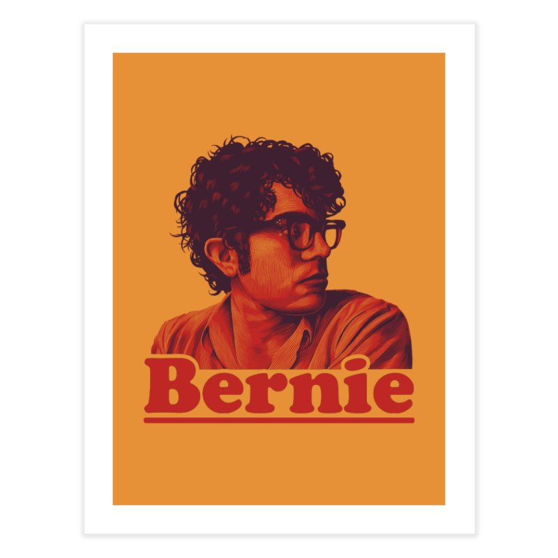 Young Bernie Home Fine Art Print by Bernie Threads