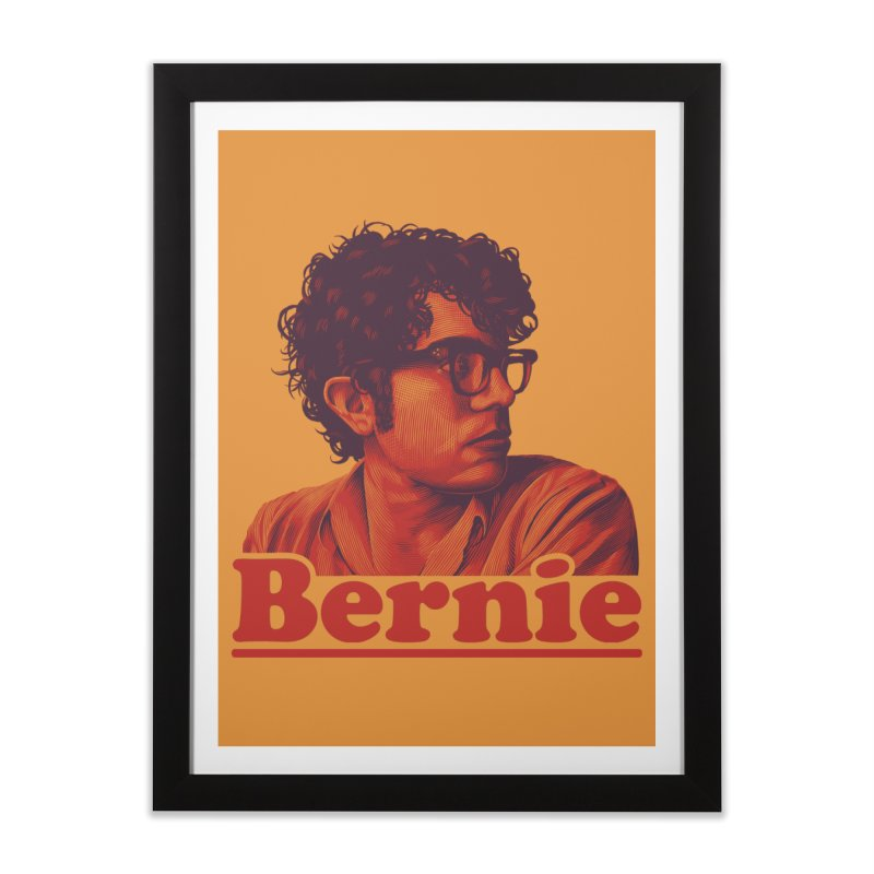 Young Bernie Home Framed Fine Art Print by Bernie Threads